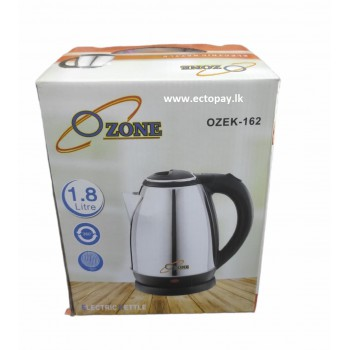 OZONE ELECTRIC KETTLE SILVER 1.8 Litre
